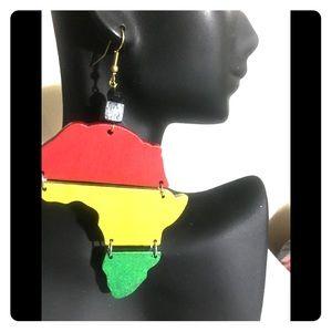 Afric map earrings